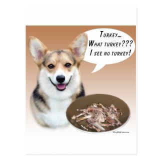 Pembroke Welsh Corgi Turkey Post Card
