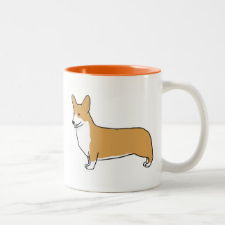 Pembroke Welsh Corgi Two-Tone Coffee Mug