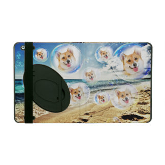 Pembroke Welsh Corgis at the Beach iPad Folio Cases