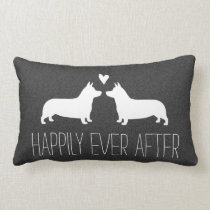 Pembroke Welsh Corgis Happily Ever After Lumbar Pillow