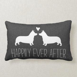 Pembroke Welsh Corgis Happily Ever After Lumbar Pillow
