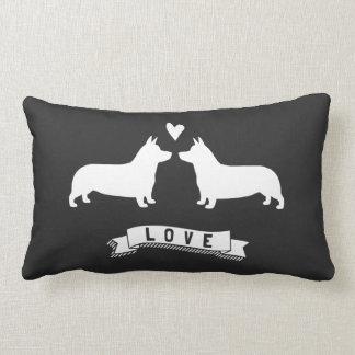 Pembroke Welsh Corgis Love Throw Pillows
