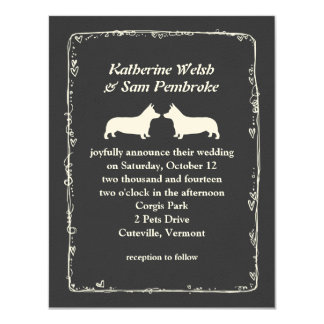 Pembroke Welsh Corgis Wedding Invitation