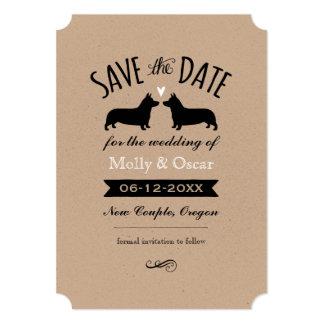 Pembroke Welsh Corgis Wedding Save the Date Card