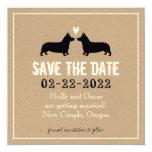 Pembroke Welsh Corgis Wedding Save the Date 5.25x5.25 Square Paper Invitation Card