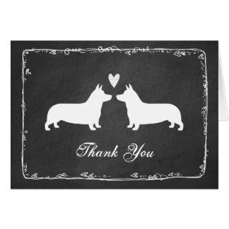 Pembroke Welsh Corgis Wedding Thank You Card