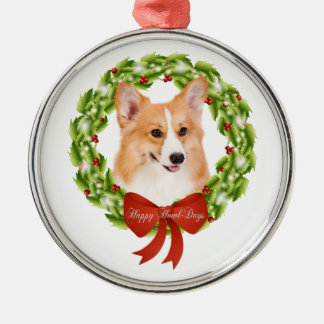 Pembroke WelshCorgi Metal Ornament