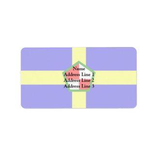Pembrokeshire, bandera de Reino Unido Etiquetas De Dirección