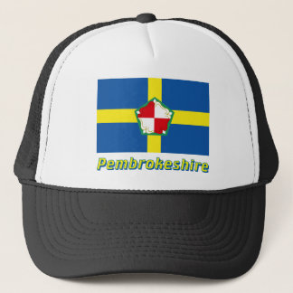 Pembrokeshire Flag with Name Trucker Hat
