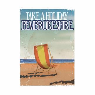 Pembrokeshire, UK Vintage Travel poster Cutout
