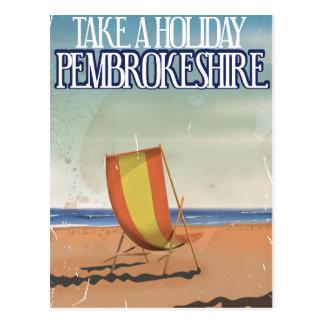 Pembrokeshire, UK Vintage Travel poster Postcards