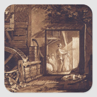 Pembury Mill, Kent, engraved by Charles Turner (17 Square Stickers