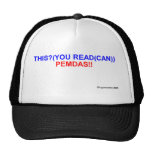 PEMDAS: CAN YOU READ THIS? MESH HATS