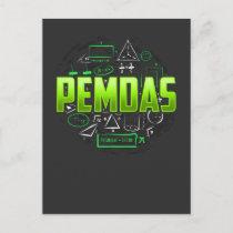 Pemdas Math Teacher Student Mathematics Postcard