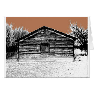 Pen and Ink Abandoned Stable Card