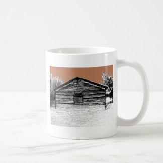 Pen and Ink Abandoned Stable Coffee Mug