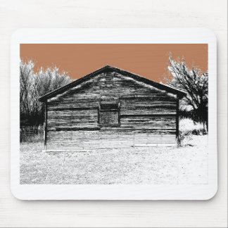 Pen and Ink Abandoned Stable Mouse Pad