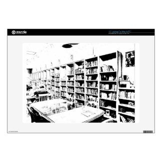 "Pen and Ink Book Wall 15"" Laptop Skins"