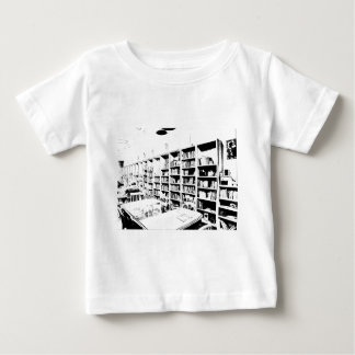 Pen and Ink Book Wall Baby T-Shirt
