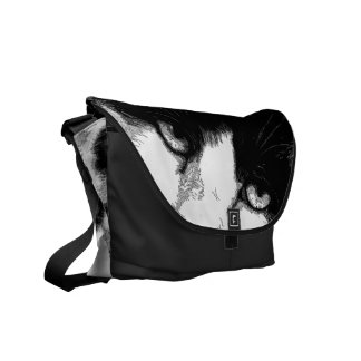 Pen and Ink Cat Courier Bag