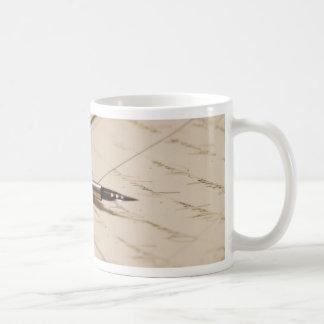 pen and ink coffee mug