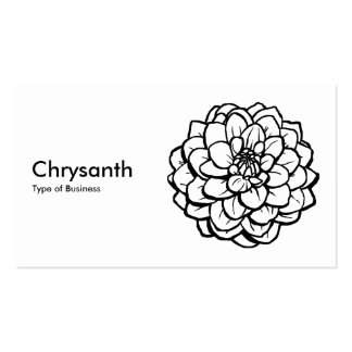 Pen and Ink Dahlia - Black on White Standard Business Cards