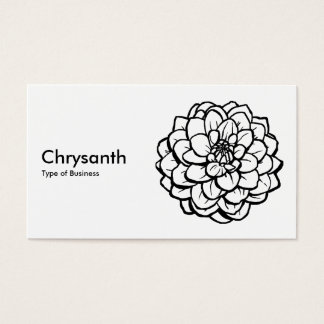 Pen and Ink Dahlia - Black on White Business Card