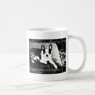 Pen and Ink Dog on Cushion Coffee Mug
