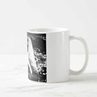 Pen and Ink Dog on Cushion Classic White Coffee Mug