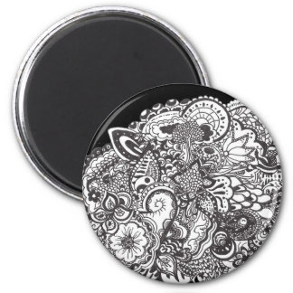 Pen and Ink Drawing 2 Inch Round Magnet
