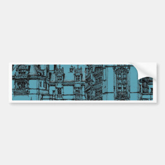 pen and ink drawing car bumper sticker