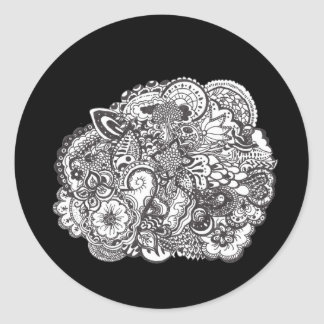 Pen and Ink Drawing Classic Round Sticker