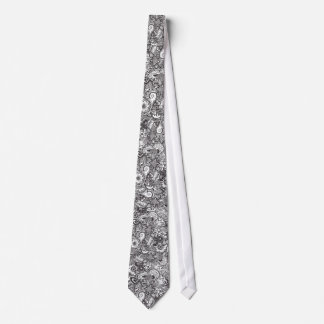 Pen and Ink Drawing Neck Tie