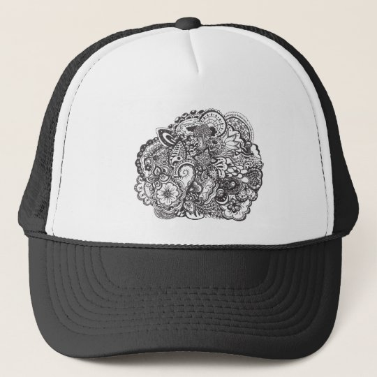 Pen and Ink Drawing Trucker Hat