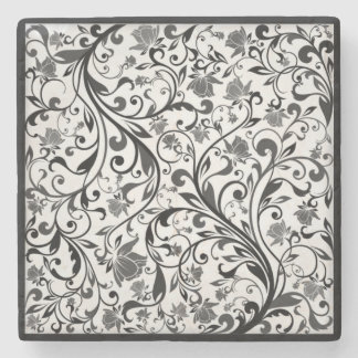 Pen and Ink Floral Marble Coasters
