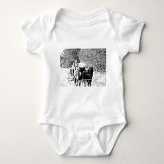 Pen and Ink Horse Drawn Wagon T-shirts