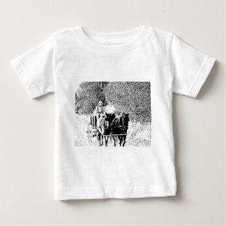 Pen and Ink Horse Drawn Wagon Tshirt