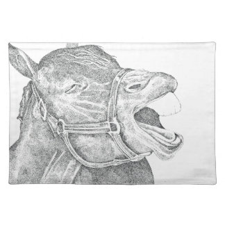 Pen and Ink Horse.png Cloth Placemat