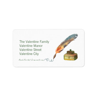 Pen and Ink Love Address Label