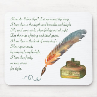 Pen and Ink Love Mousepads