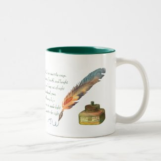 Pen and Ink Love Two-Tone Coffee Mug