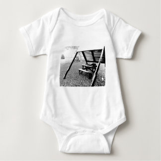Pen and Ink Picnic Table Baby Bodysuit