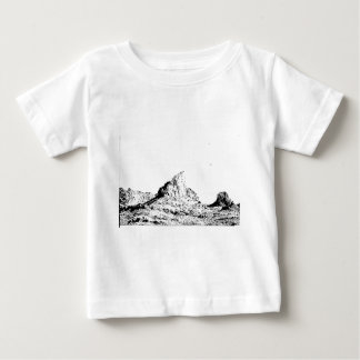 Pen and Ink Pointed Butte Baby T-Shirt