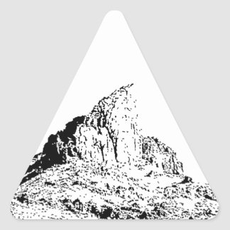 Pen and Ink Pointed Butte Triangle Sticker