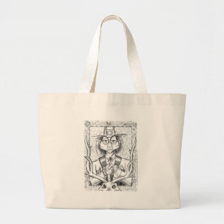 Pen and Ink Scary Guy Large Tote Bag