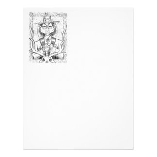 Pen and Ink Scary Guy Letterhead
