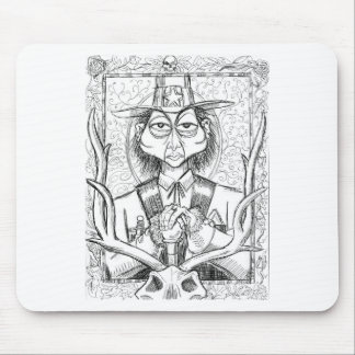 Pen and Ink Scary Guy Mouse Pad