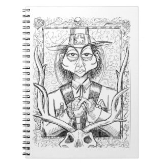Pen and Ink Scary Guy Notebook