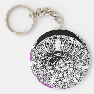 Pen and Ink Tire Key Chain