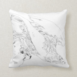 Pen and Ink Tribal designs Pillow of Eagle and Boy